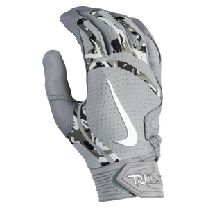 Nike Trout Elite Batting Gloves - Men's - Wolf Grey/Wolf Grey/Chrome