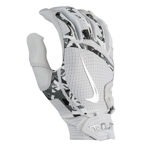 Nike Trout Elite Batting Gloves - Men's - White/White/Chrome