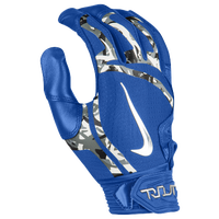 Nike Trout Elite Batting Gloves - Men's - Blue / Silver