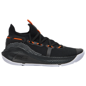 Under Armour Curry 6 - Boys' Grade School - Curry, Stephen - Black/White/Red Rage