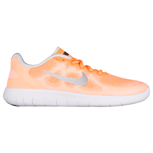 93a0beda967b Nike Free RN 2017 - Girls  Grade School - Running - Shoes - Tart Metallic  Silver Sunset Glow White