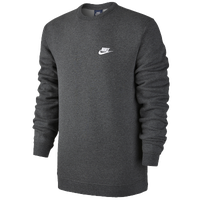 e698b88adc67 Nike Club Fleece Crew - Men s - Casual - Clothing - Obsidian White
