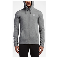226c29f09ded Nike Club Full Zip Fleece Hoodie - Men s - Grey   Grey