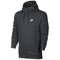 Nike Club Full-Zip Fleece Hoodie - Men's - Grey / Grey