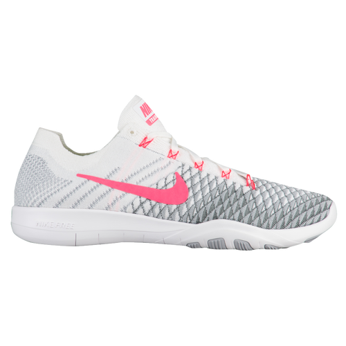Nike Free TR Flyknit 2 - Women's - Training - Shoes - White/Hyper  Punch/Wolf Grey