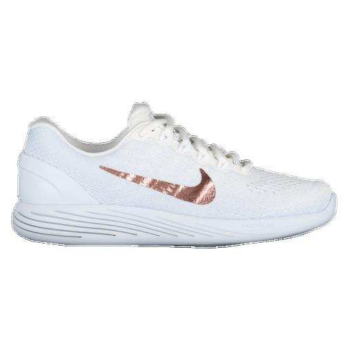 Nike LunarGlide 9 - Women's - Running - Shoes - Summit White/Mtlc Red  Bronze/Blue Tint