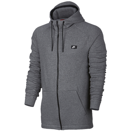 Nike Modern Full Zip Hoodie - Men's - Grey / Black