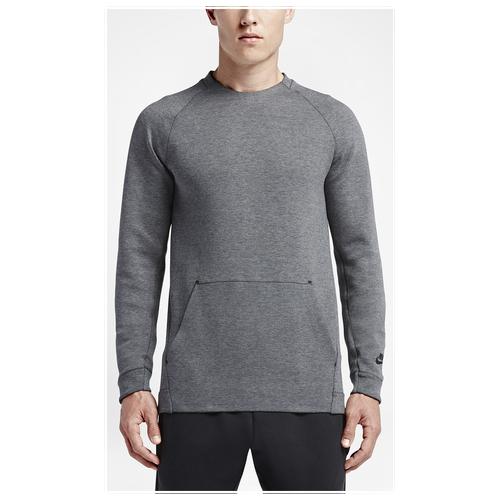 856314563e28 Nike Tech Fleece Crew - Men s - Casual - Clothing - Carbon Heather Black