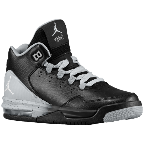 Jordan Flight Origin 2 - Boys' Grade School - Basketball - Shoes - Black/ White/Wolf Grey