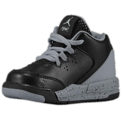 Jordan Flight Origin 2 - Boys' Toddler - Basketball - Shoes - Black/White/Wolf  Grey