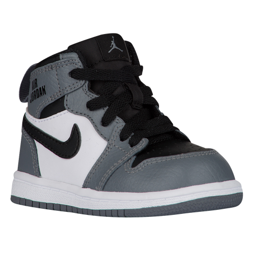 Jordan AJ 1 High - Boys' Toddler - Basketball - Shoes - Cool Grey/Cool Grey/ White/Black