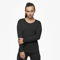 Eastbay EVAPOR Feather Light L/S T-Shirt - Women's - All Black / Black