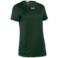 Under Armour Team Locker S/S T-Shirt - Women's - Dark Green / Silver