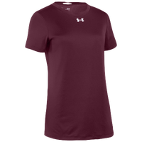 Under Armour Team Locker S/S T-Shirt - Women's - Maroon / Silver