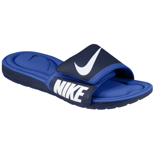 cc29bd075a8c Nike Solarsoft Comfort Slide - Men s - Casual - Shoes - Midnight Navy Game  Royal White