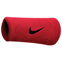 Nike Swoosh Doublewide Wristbands - Men's - Red