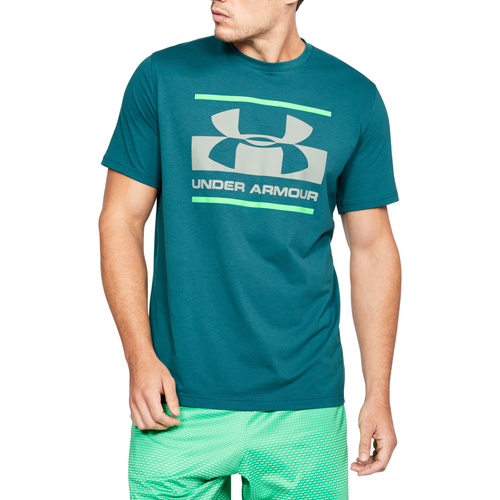 Under Armour Blocked Sportstyle T-Shirt - Men's Casual - Loft Teal/Arena Green/Tin 05667296