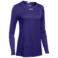 Under Armour Team Locker L/S T-Shirt - Women's - Purple / Silver