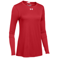 Under Armour Team Locker L/S T-Shirt - Women's - Red / Silver