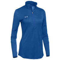 Under Armour Team Novelty Locker 1/2 Zip - Women's - Blue / Silver
