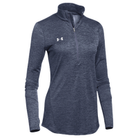 Under Armour Team Novelty Locker 1/2 Zip - Women's - Navy / Silver