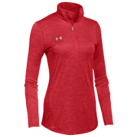 Under Armour Team Novelty Locker 1/2 Zip - Women's - Red / Silver