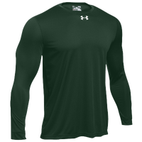 Under Armour Team Locker 2.0 L/S T-Shirt - Men's - Dark Green / White