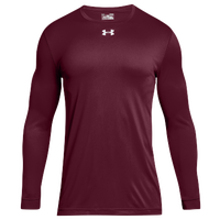 Under Armour Team Locker 2.0 L/S T-Shirt - Men's - Maroon / White