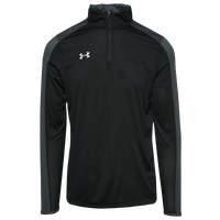 Under Armour Team Novelty Locker 1/4 Zip - Men's - Black / Silver