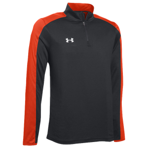 Under Armour Team Novelty Locker 1/4 Zip - Men's - Black/Dark Orange/Metallic Silver