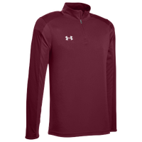 Under Armour Team Novelty Locker 1/4 Zip - Men's - Maroon / Silver