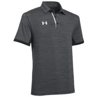 Under Armour Team Elevated Polo - Men's - Grey / Black