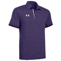 Under Armour Team Elevated Polo - Men's - Purple / White