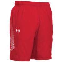 Under Armour Team Woven Training Shorts - Men's - Red / White