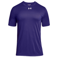 Under Armour Team Locker 2.0 S/S T-Shirt - Boys' Grade School - Purple / White