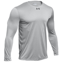Under Armour Team Locker 2.0 L/S T-Shirt - Boys' Grade School - Grey / Black