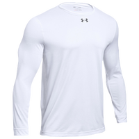 Under Armour Team Locker 2.0 L/S T-Shirt - Boys' Grade School - White / Grey