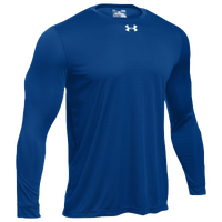 Under Armour Team Locker 2.0 L/S T-Shirt - Boys' Grade School - Blue / Silver