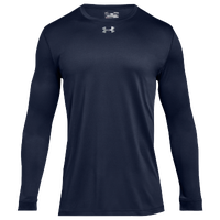 Under Armour Team Locker 2.0 L/S T-Shirt - Boys' Grade School - Navy / Silver