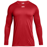 Under Armour Team Locker 2.0 L/S T-Shirt - Boys' Grade School - Red / White