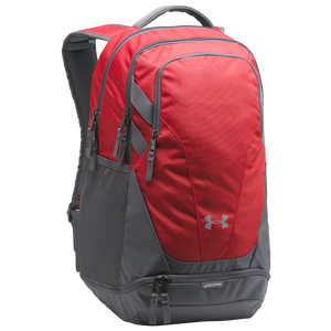 Under Armour Team Hustle 3.0 Backpack - Red/Grey/Grey