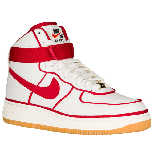 nike air force one premium red dot