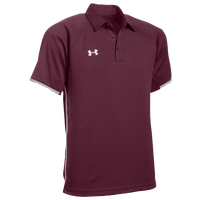 Under Armour Team Rival Polo - Men's - Maroon / White