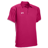 Under Armour Team Rival Polo - Men's - Pink / White
