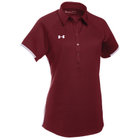 Under Armour Team Rival Polo - Women's - Cardinal / White