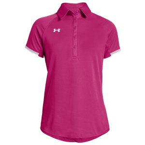 Under Armour Team Rival Polo - Women's - Tropic Pink/White