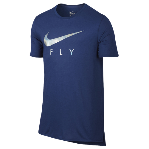Nike Fly Droptail T-Shirt - Men's Basketball - Deep Royal Blue/Deep Royal Blue 06879455
