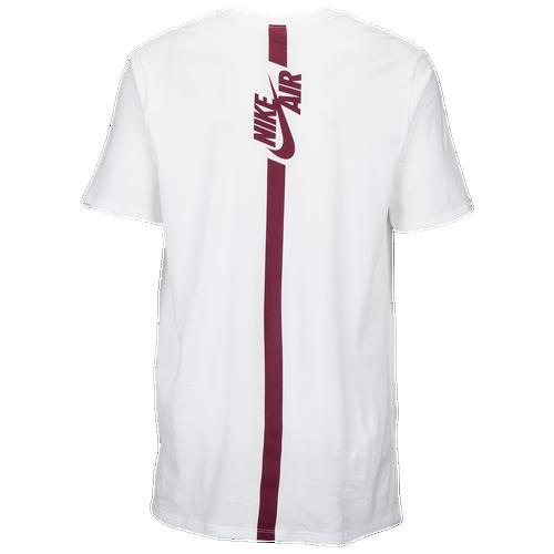 Nike Air Branded Mark T-Shirt - Men's - Casual - Clothing - White ...