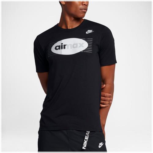 Nike Air Max 97 T-Shirt - Men s - Casual - Clothing - Black Pure Platinum 7f5530fab771