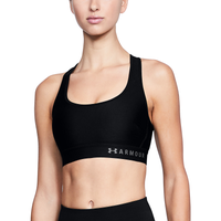 Under Armour Armour Mid Crossback Bra - Women's - Black / Grey